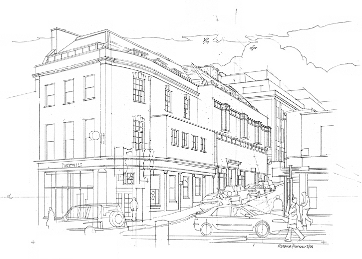 Park Street Bristol Drawing By Roland Harmer Ba Sai